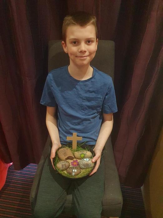 Lewis' Lenten Prayer Display