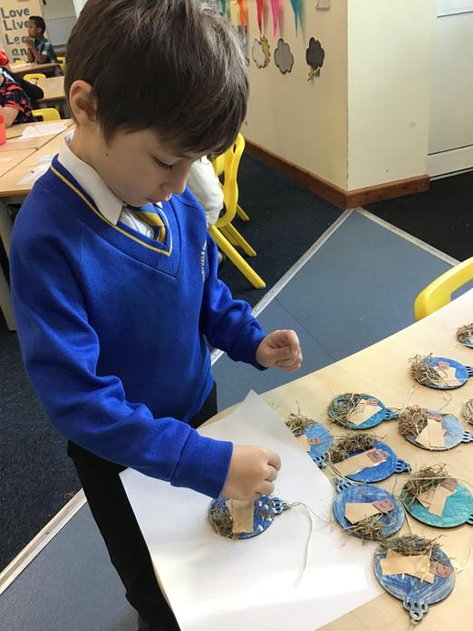 Today we made baubles to hang on our  tree's!