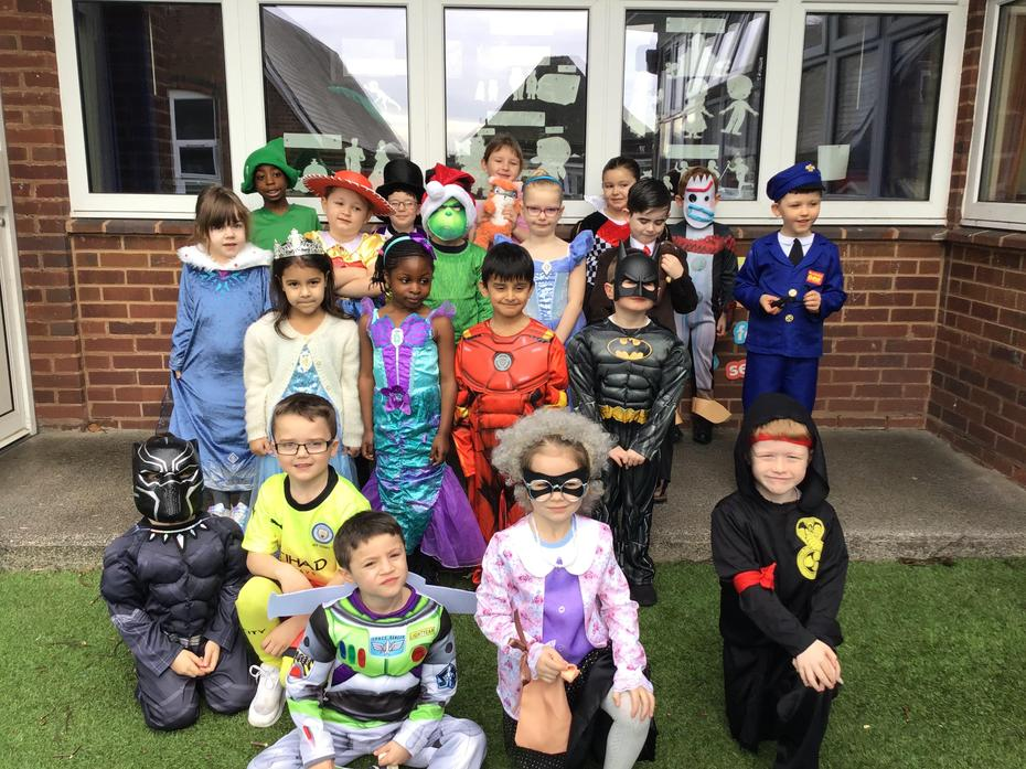 Today we dressed up as our favourite characters!