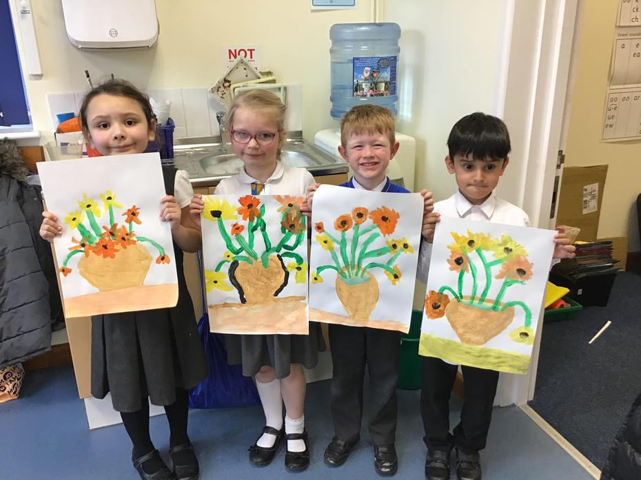 We had fun learning all about Vincent Van Gogh!