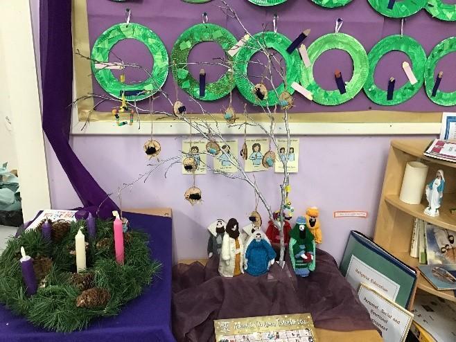 Nursery's beautiful Advent prayer table