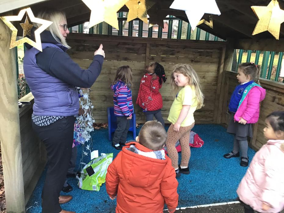 The children enjoyed helping decorate our Stable.