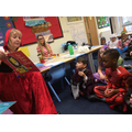 Little Red Riding Hood came to read to Year 1 & 2