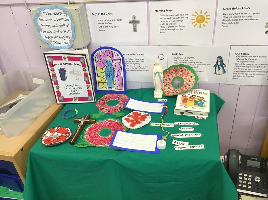 Reception's Prayer Table