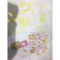 Frankie's painted handprints!