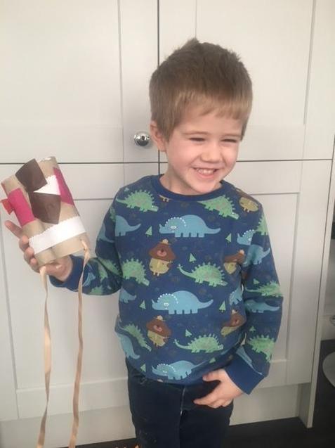 Frankie has been decorating his binoculars!