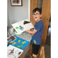 Will's inspired Minecraft painting