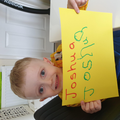 Joshua has been copying letters from his name