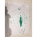 Frankie's drawing of a T-Rex.
