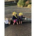 Sophie and her sister went on a winter walk