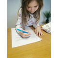 Isabel is writing letters from her name