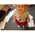 Katelyn has made some number cards.