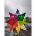 Sebby's rainbow star!