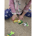 Sophie is doing a jigsaw!