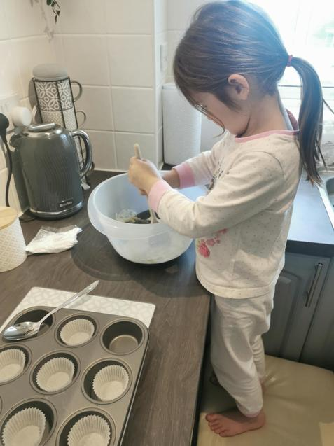 Isabel is baking!