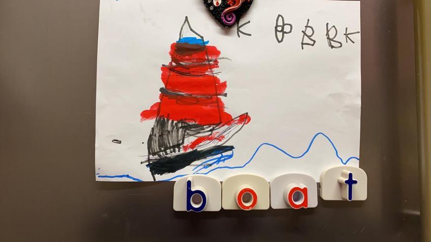 Katelyn has drawn a boat!