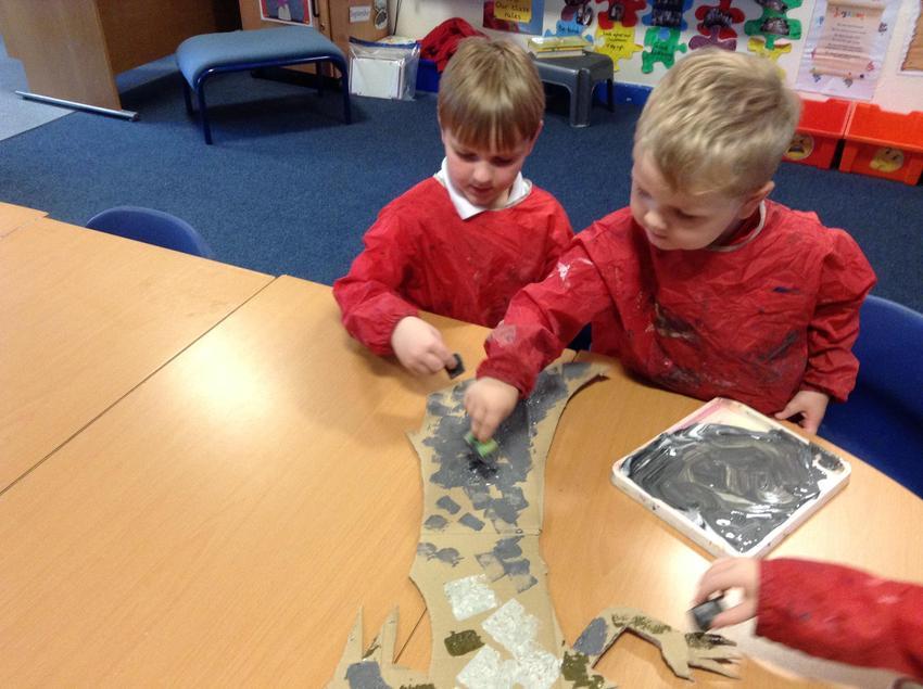 Painting a Diplodocus