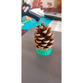 Jac's pine cone lid! What a great addition! (4B)