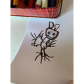 Frankie's drawing of his new hamster called Rick!