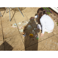 Outdoor chalk drawing by Lana(4P)
