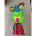 Picasso style self-portrait by Olivia (4R).