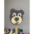 Sophie's bear puppet!