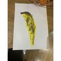 Sophie's drawing of a banana