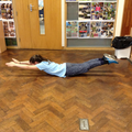 Strong abdominal muscles help create the arch