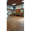 Our big school hall - lunch, PE and worship space