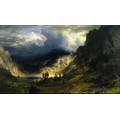 "A. Bierstadt ""A storm in the Rocky Mountains"" 1866"