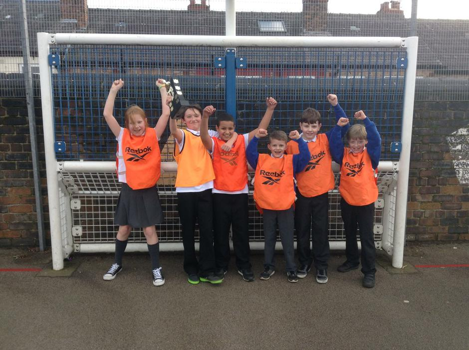 Lunchtime football competition winners