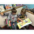 We love reading in our reading area.
