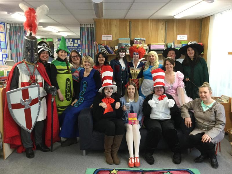 Staff celebrating World Book Day