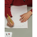 Two hands for writing