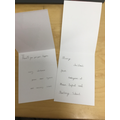 Only our best handwriting went into the cards