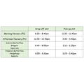 Drop-Off and Pick-Up Timeslots