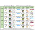Week 2 home learning timetable