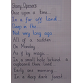 We thought of different story openers.