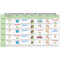 Week 1 timetable