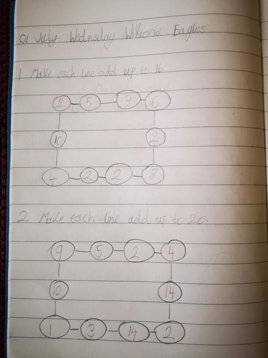 Super Maths learning Wiktoria!