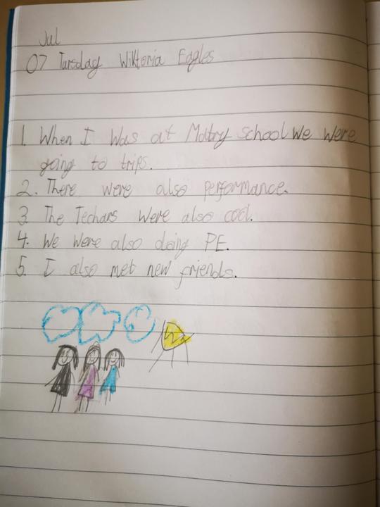 Wiktoria's memories of Maytree school.