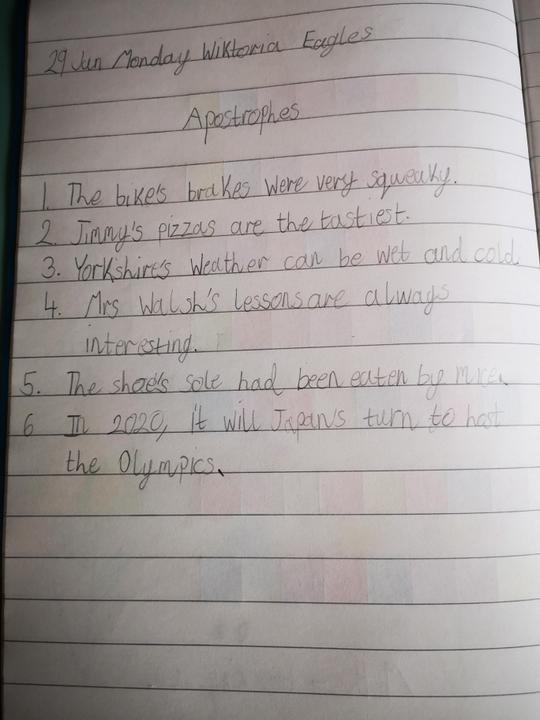 Lovely sentences Wiktoria