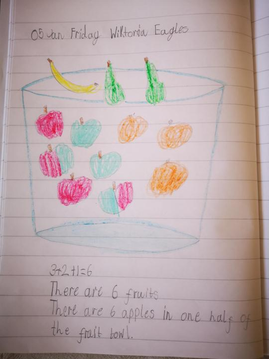 Wiktoria's Maths challenge, well done.