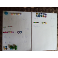 Making number bonds to 10 using resources