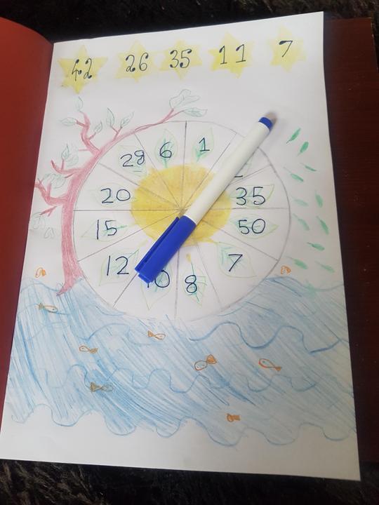 Maimuna drew a lovely spinner!