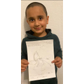 A great drawing and labels Azaan.