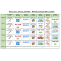 This week's home learning timetable