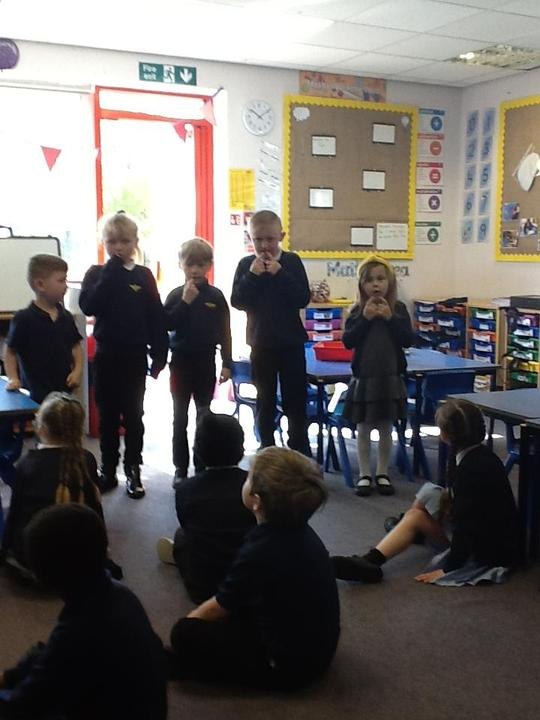 Performing to our class