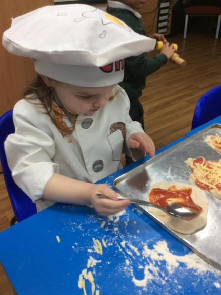 Making our own pizza