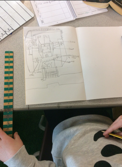 Here is an early design from our Design and Technology topic in which we made castles.